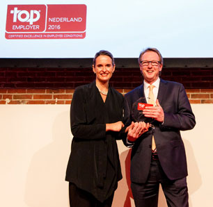 Uitreiking Top Employer Nederland 2016